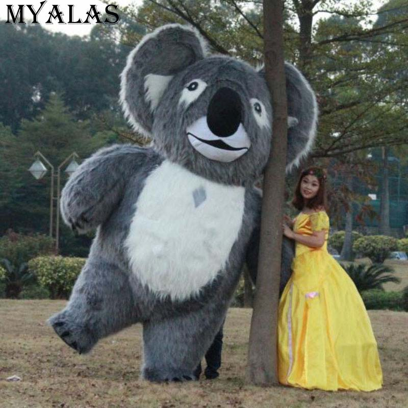 Koala Inflatable Furry Costume For Advertising Animal Inflatable Costume Inflatable Koala Mascot For Advertising 2M Or