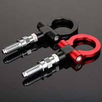 1X CNC Aluminum Car Racing Front Tow Towing Hook Auto Trailer Ring For BMW European Car