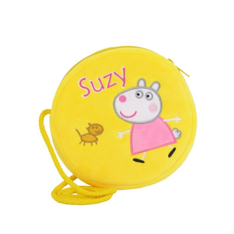 Genuine Peppa Pig George Pig Plush Toys Kids Girls Boys Kawaii Kindergarten Bag Backpack Wallet Money School Bag Phone Bag Dolls 3