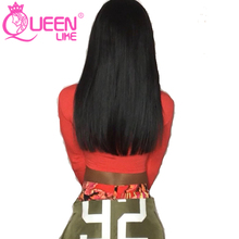 Queen like Hair Products Non Remy 100% Human Hair Closure Brazilian Straight Hair With Lace Closure
