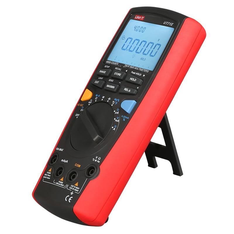 UNI-T UT71A UT71B UT71C UT71D UT71E Digital Multimeter AC DC current voltage USB true REL Resistance Tester Ammeter Multitester мультиметр uni t uni t ut71b alicate amperimetro ac dc