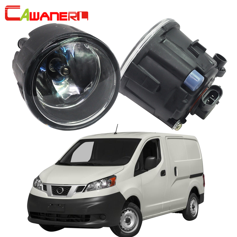 Cawanerl 2 Pieces 100W Car Accessories Halogen Fog Light Daytime Running Lamp DRL 12V For Nissan NV200 M20 M20M 2010-2015 cawanerl 2 x car led fog light drl daytime running lamp accessories for nissan note e11 mpv 2006