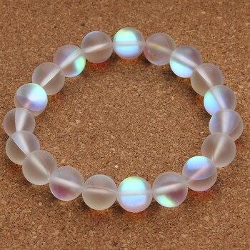 Bracelet Quartz Aura Pierres Naturelles Blanches