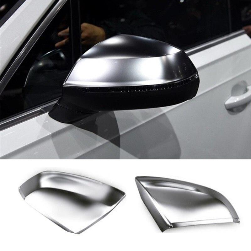 Pour Audi Q7 SQ7 4 M S Style 2016 2017 Mat Chromé côté Porte Rétroviseur Rétroviseur Couverture Remplacement De Voiture Accessoires