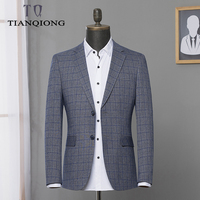 2019 Spring Suits Blazer Men's Business Casual Plaid Suits Men Single Breasted Coat Fashion Classic Jacket Blazers Size M 3XL