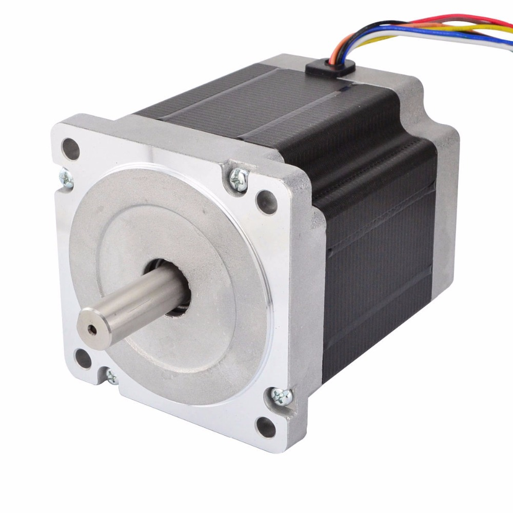 Nema 34 Stepper Motor CNC 7.07Nm (1001oz.in) 86x86x98mm 8 Wires 3d printer stepper motor 1pc 1 8 degree nema42 stepper motor 110hs99 5504 with 4 wires 5 5a 48v 220v 11 2n m cnc mill cut engraver 3d printer