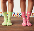 5pairs/lot New fashion female cotton socks,women's spring autumn winter poached eggs print socks 2colors hot sale(ztw70)