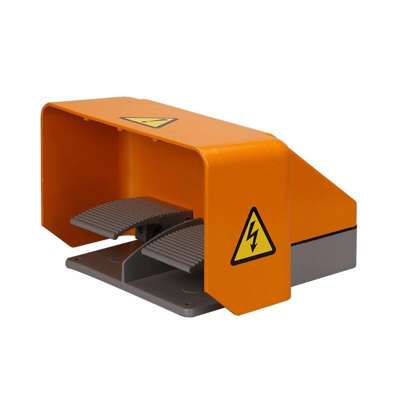 380 V 10A Double pédale commutateur de commande au pied pour Machine à cintrer poinçon équipement médical YDT1-18, Orange