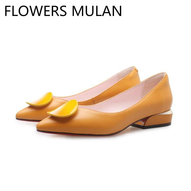 Rose Dames As Épais 2019 Pointu Glissent Orange Bonbons Lumière Femmes Bout De Zapatos Show Talons Créateur Mujer Luxe Sur Show as Mules Chaussures fq754
