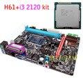 NEW Micro-ATX DDR3  LGA1155 H61+I3 2120 Motherboard KIT