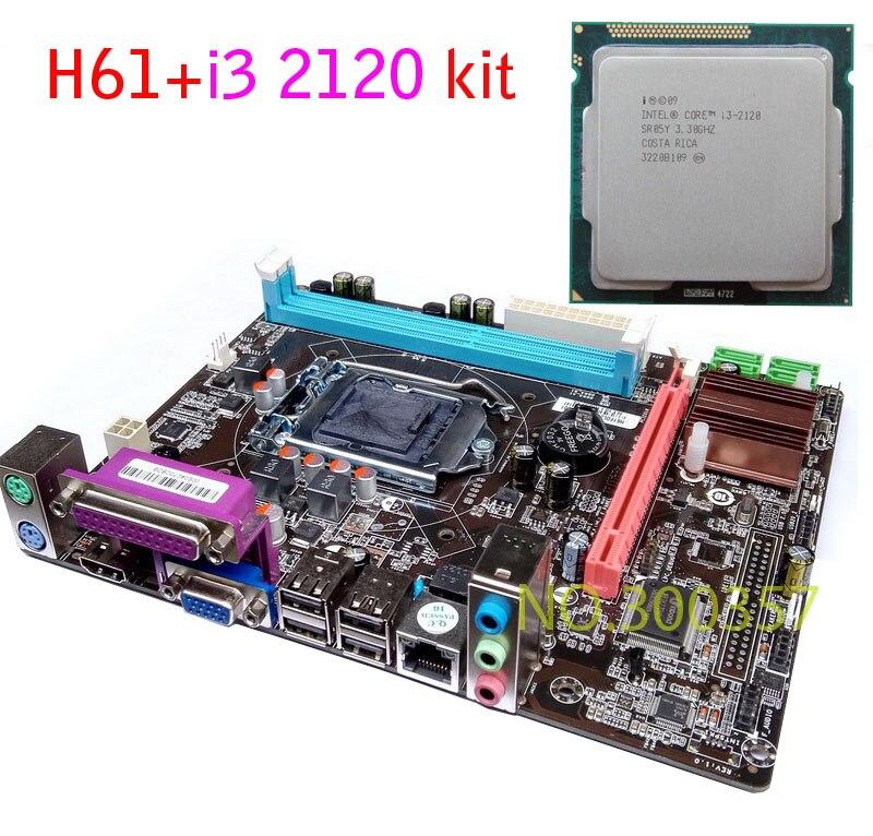 NEW Micro ATX DDR3 LGA1155 H61 I3 2120 font b Motherboard b font KIT