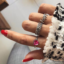 5 Rings Set New Bohemian Vintage Women Alloy Star Moon Shape Finger Rings Punk Jewelry Couples Rings Bijouterie Accessories*30(China)