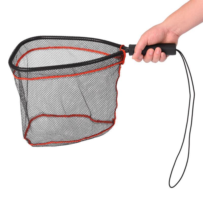 RUNACC Fishing Landing Net Portable Fish Catch and Release Net Soft Fish Saver Nylon Mesh with Anti-slip ABS Handle
