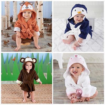 New Luvable Friends Animal Charater Square Hooded Bath Towel Set Baby Product Cartoon Baby Robe 100% Cotton Infant Bath Towels 3