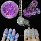 DIY Clear glitter Slime Toys Crystal slime transparent Mud Fluffy Slime shinny Glue Cloud Slime Supplies Antistress Putty Clay