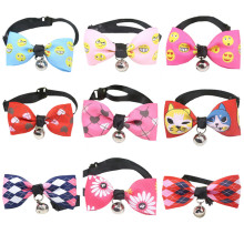 1Pcs Fashion Adjustable Puppy Kitten Dog Cat Pet Bow Tie With Bell Necktie Collar