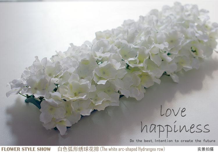 Künstliche Hydragea Blumengirlanden 10 Stücke 50 * 20 cm - Partyartikel und Dekoration - Foto 6