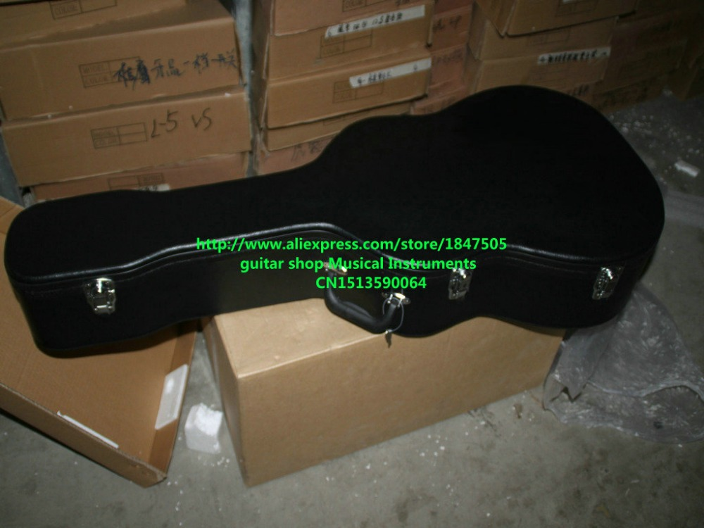 Acoustic guitar Electric Guitar Black Hard case Not sold separately for electric guitar Free shipping hand made full solid wood acoustic guitar with free hard case free shipping