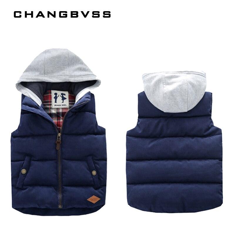 Winter Sleeveless Kids Vest Boys Outerwear Spring Warm Children Vests Autumn Waistcoats Liner Jacket Coat for 3 9 Years Old Boys