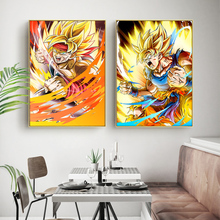 1 Piece Animation Goku Dragon Ball Canvas Printed Wall Pictures Home Decor For Living Room Poster Wholesale
