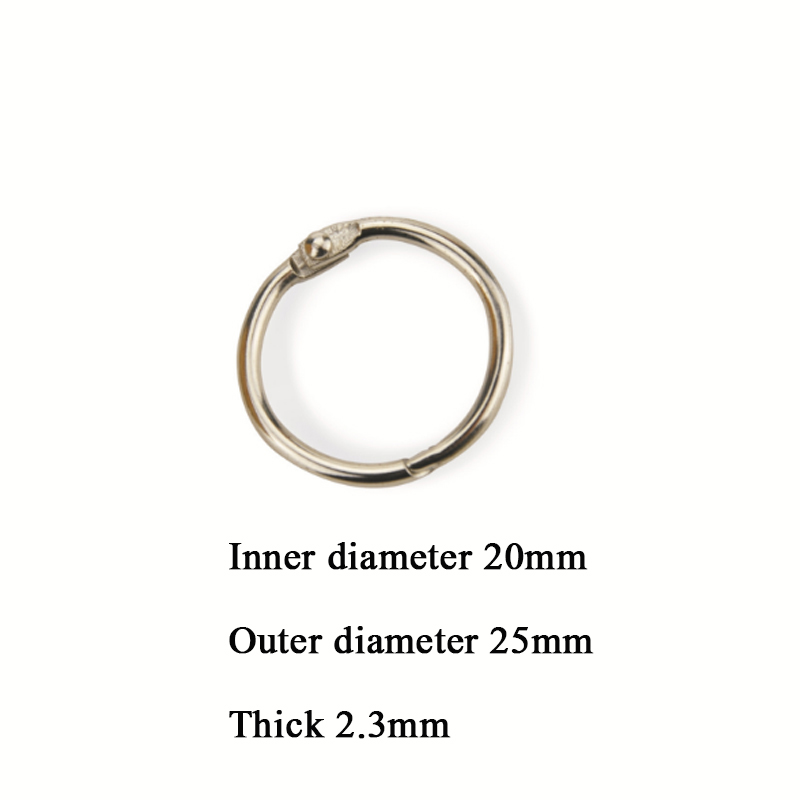 5/10/20PCS DIY 20mm Inner Metal Loose Leaf Book Binder Buckle Ring Keychain Scrapbook Sketchbook Craft Photo Split Office Supply