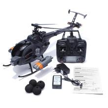 Nova chegada escala fx070c 2.4g 4ch 6 axis gyro flybarless md500 rc helicóptero com controle remoto presente das crianças do miúdo toys presente