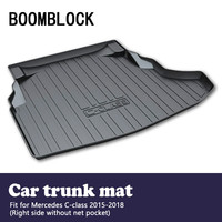 BOOMBLOCK Car Special Trunk Floor Mat For Mercedes C class W205 Without net pocket 2018 2017 2015 Luggage Tray Carpet Floor Mat