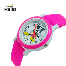 1pcs Free Shipping 4 styles 3D Cartoon Anime baby kids Watches Children
