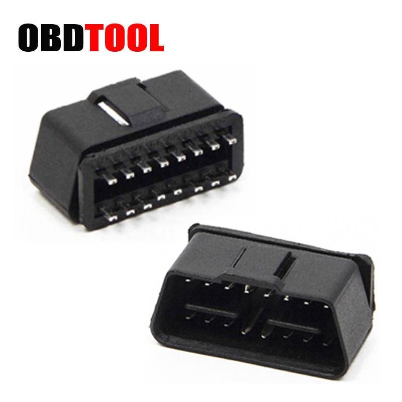 New 24 V Square Hole OBD2 16 Pin Needle Adapter OBD Male Head Plug Auto Car Diagnostic Cable Connector 16pin Obd2 Socket JC10