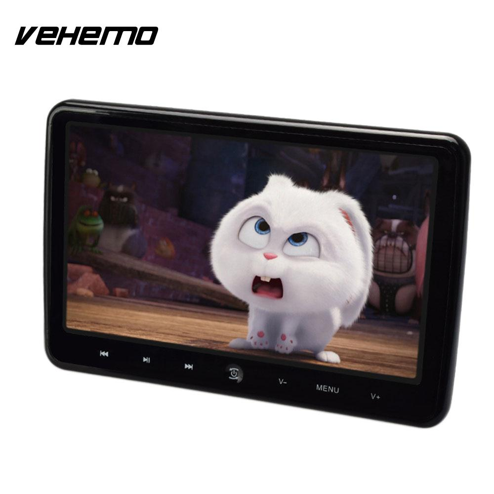 VEHEMO HDMI USB SD DC 12V Game Console Car Car Headrest Player DVD Monitor Vehicles Automotive Audio Player FM Transmitter