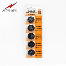 5x Wama CR2430 3V Alkaline Button Cell Coin Batteries CR DL2430 KECR2430 Car Remote Lithium 3V Button Cell Coin Battery