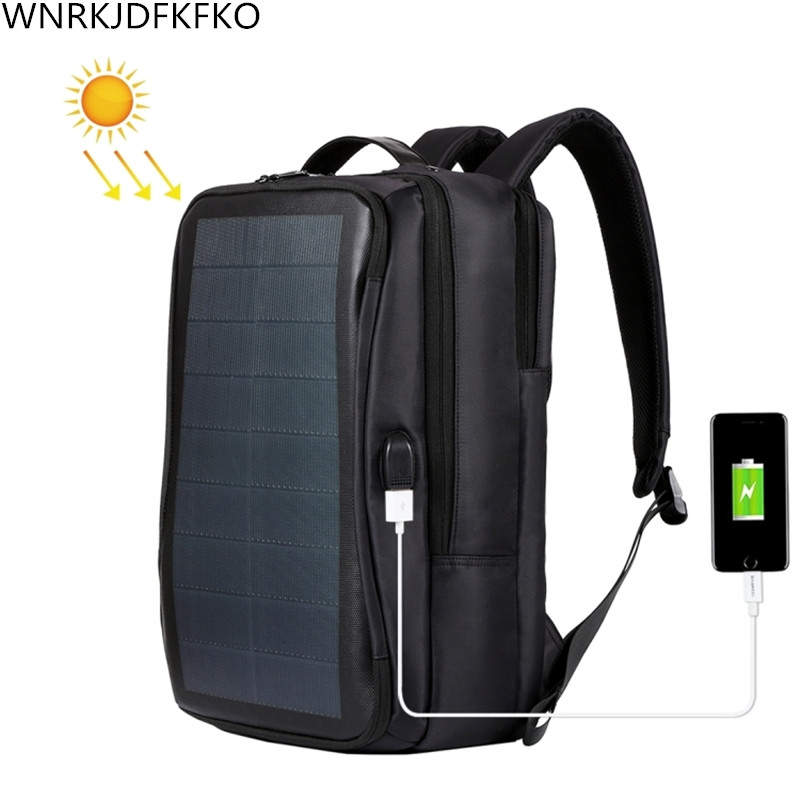 2019 Solar Panel Backpacks Waterproof Large Capacity 15.6 Inch Convenience Charging Laptop Bags For Travel Solar Charger Day