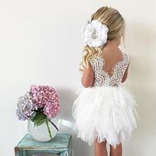 Платье для маленьких девочек; кружевное платье-пачка сзади; многослойное платье для девочек; свадебное платье для девочек; Вечерние платья на крестины; vestidos de meninas