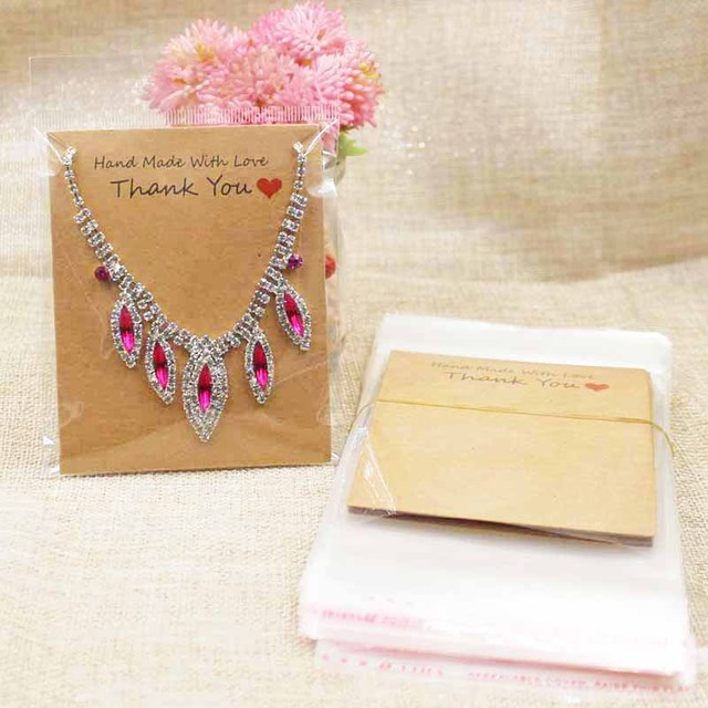 108cm two design brown thank you jewelry display card handmade with