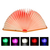 Wooden Book lights Flip Folding Gift LED Book Night light USB Rechargeable Kids Baby Bedroom Desk Lamp Magnetic Book Lamps