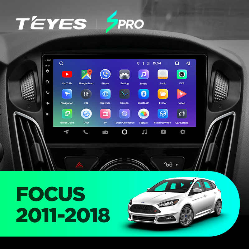 TEYES SPRO para Ford Focus 3 Mk 3, 2010, 2012, 2014, 2016, 2017 auto Radio Multimedia reproductor de Video GPS de navegación android 8,1 No 2din