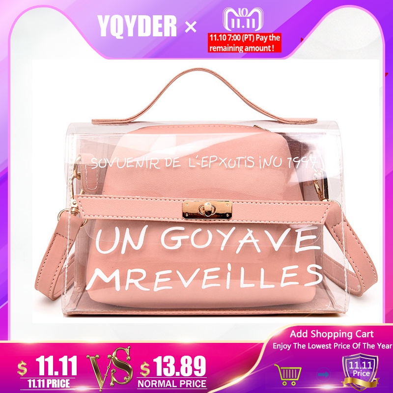 New Design Women Transparent Bag Clear PVC Jelly Small Tote Summer Beach Bag Messenger Bags Female Crossbody Shoulder Bags Sac antbook women chain messenger bags fashion new female solid small shoulder bags jelly small lock crossbody bag for women bags