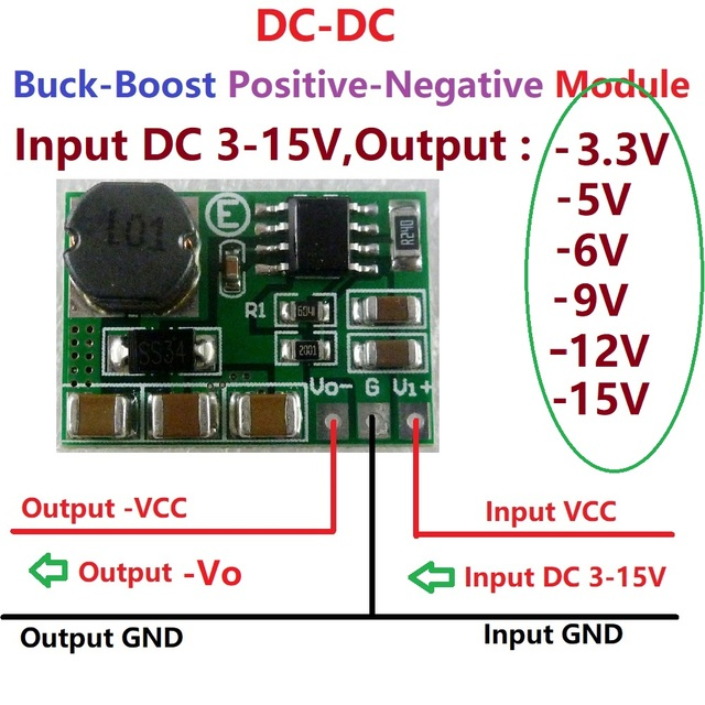200 500ma voltage converter positive to negative power supply dc