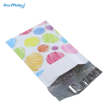 10pcs Poly Bubble Mailers 120*180mm Bubble Envelopes colorful balls ice cream Pattern Bubble Lined Poly Mailer