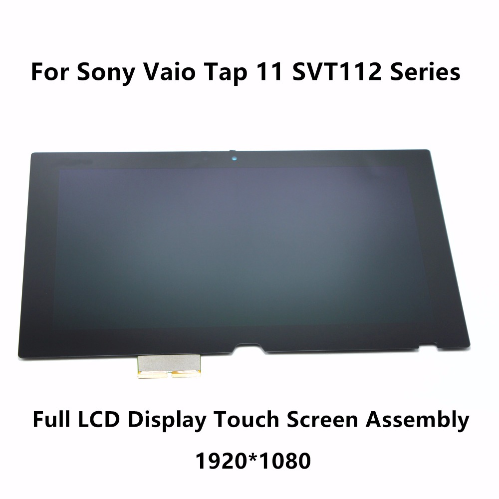New 11.6 Full LCD Display Touch Digitizer Screen Assembly VVX11F019 For Sony Vaio Tap 11 SVT112 Series SVT11211CLB SVT112A2WU new 11 6 for sony vaio pro 11 touch screen digitizer assembly lcd vvx11f009g10g00 1920 1080