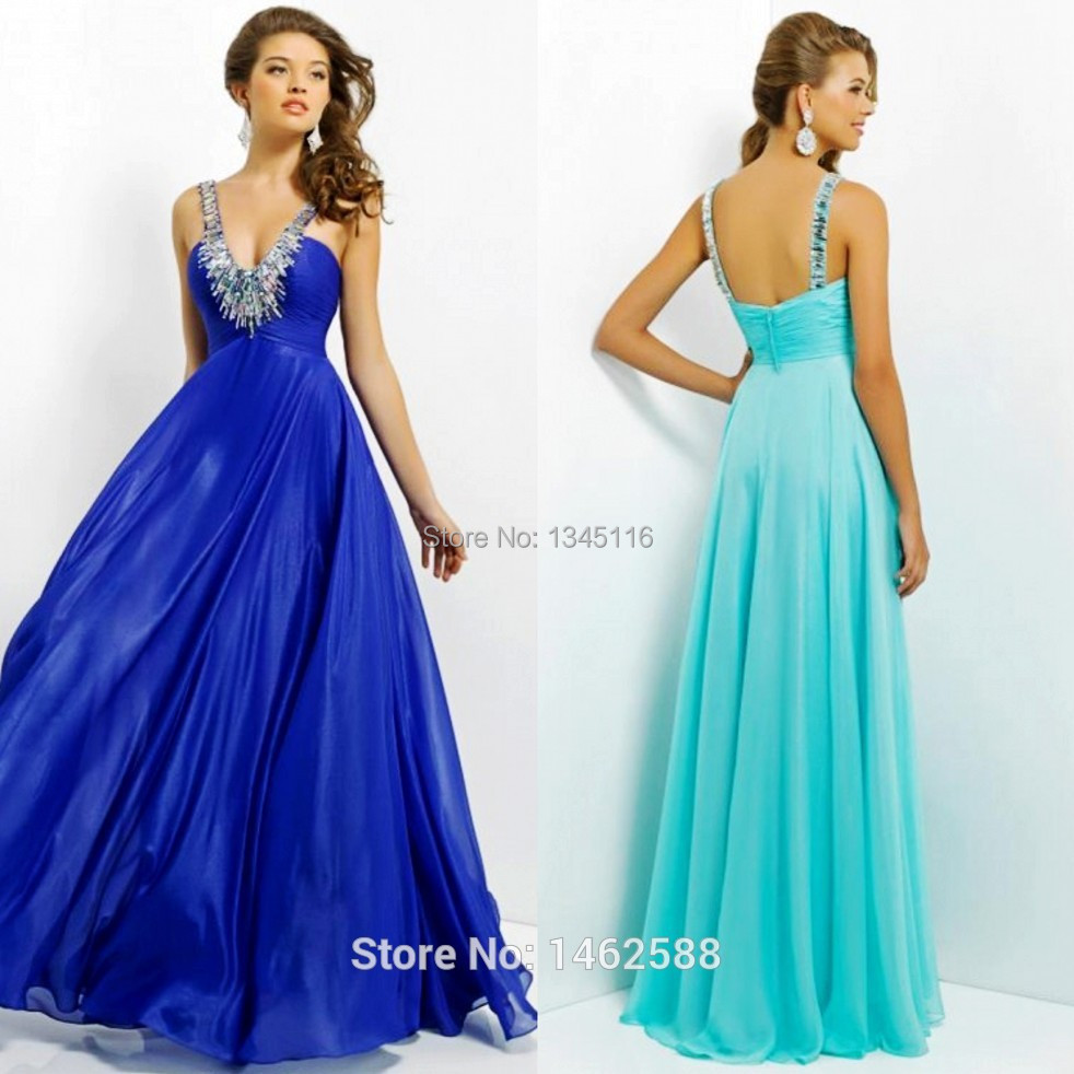 Vestido de baile azul turquesa