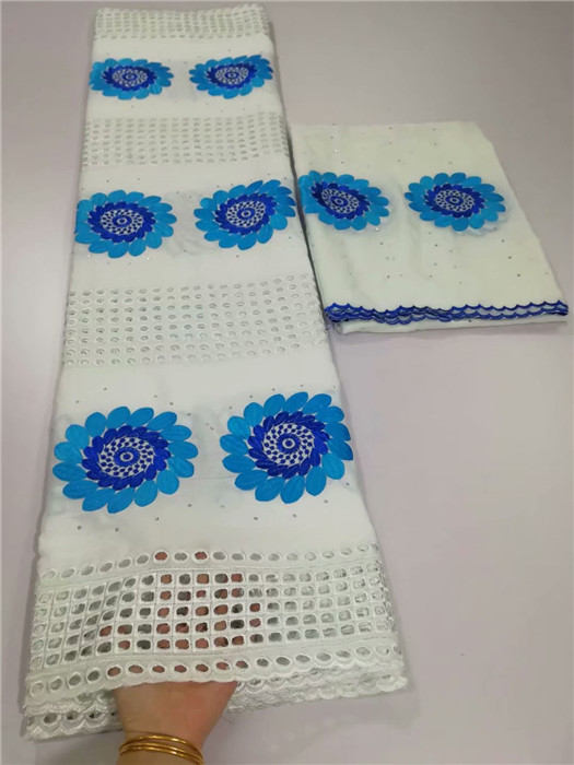 Elegant party apparel 5y African cotton lace fabric + 2yards Swiss voile fabric for sewing dress set YCV1(5+2y)Elegant party apparel 5y African cotton lace fabric + 2yards Swiss voile fabric for sewing dress set YCV1(5+2y)