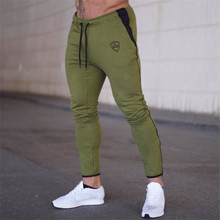 Cotton Men full sportswear Pants Casual Elastic Mens Fitness Workout skinny Sweatpants Trousers Jogger gym fitness
