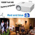 DVB-T tv digital proyector Original GP9D LED Proyector Portable 500 lúmenes 1080 HDMI USB Mini Proyector Home Media Player