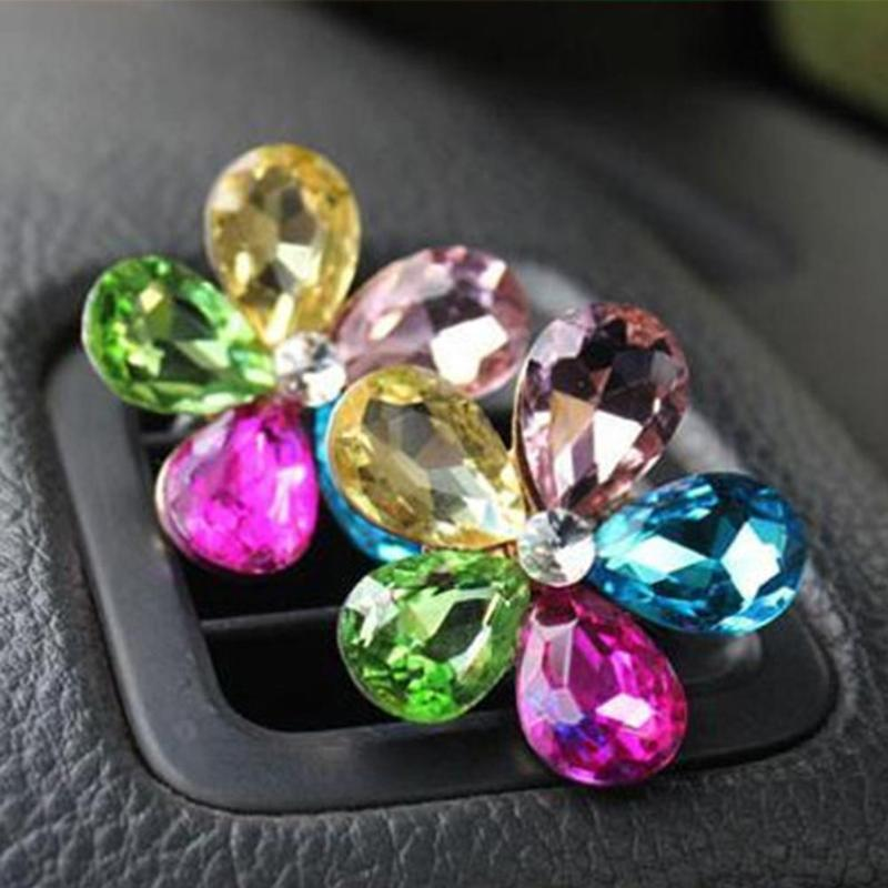 HTB1h7gzupGWBuNjy0Fbq6z4sXXaN VODOOL Car Interior Accessories Automobile Air Conditioner Outlet Crystal Flower Decor Car Ornaments Vent Perfume Decoration