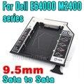 """9.5mm 2.5 """"Caso de alumínio SATA 3.0 segundo Hdd SSD para Dell E séries E6400 E6410 E6500 E6510 Caddy Disco Rígido"""