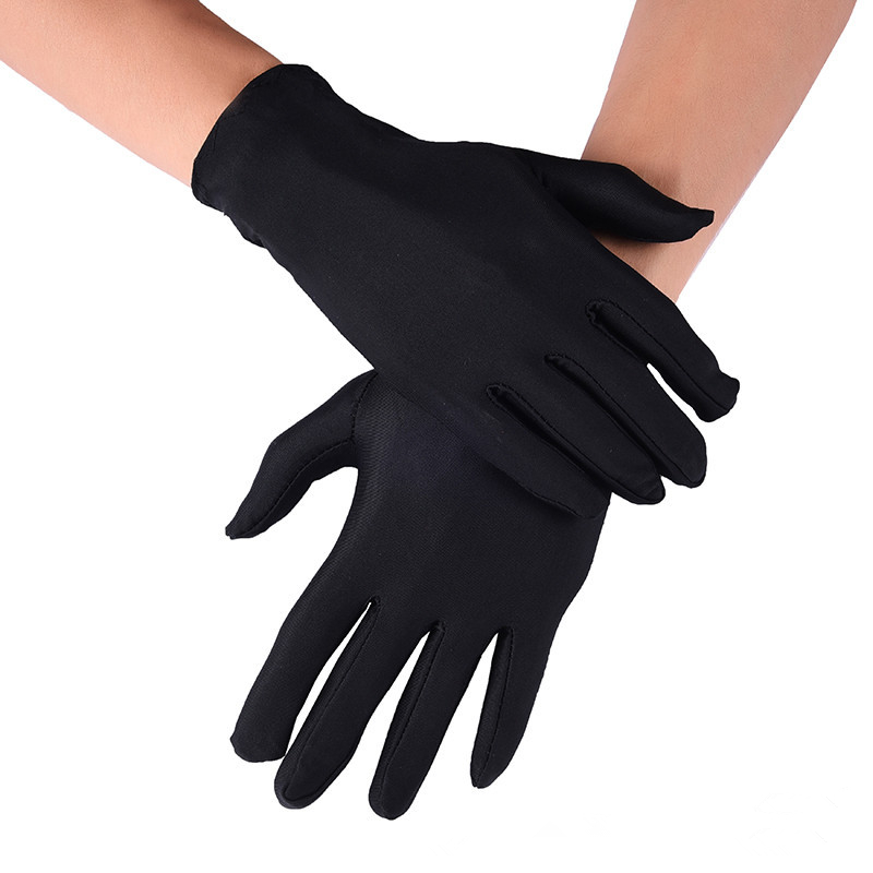 Spandex Gloves White Black Summer Sunscreen Men's Spring 22cm Guantes Stretch Elastic