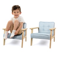 10%Solid wood children's sofa fabric boys and girls dining chair kindergarten cartoon baby small sofa