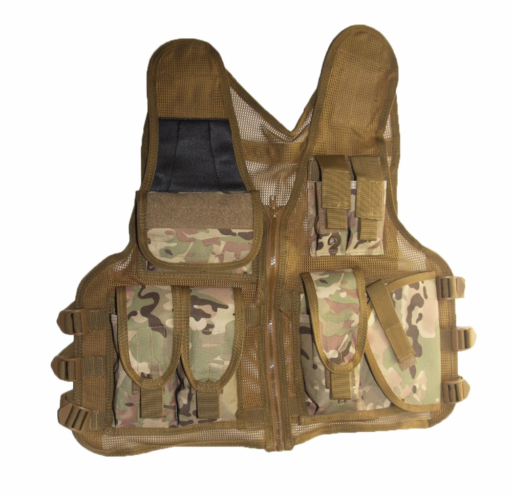 Men Hunting Tactical Vest Military Army Paintball Airsoft Combat Multicam Vest Hunting Protective Equipment Vest Fish Accessory