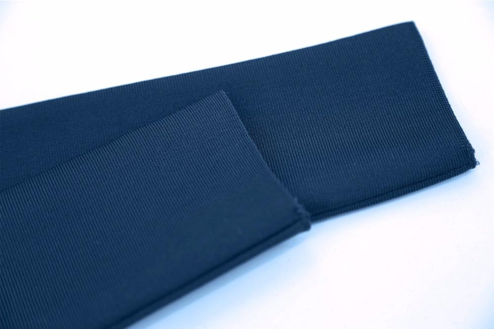 Femmes Nouveau Dropshipping Arriva longueur En Haute Soirée Bleu Genou Qualité Robe Slash Cou D'été De Gros wwrxZ